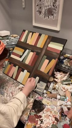 Cute Canvas Paintings, Canvas Painting Tutorials, Diy Canvas Art, Diy Painting, Hippie Painting, Small Canvas Art, Simple Acrylic Paintings, Beginner Painting, Painting Videos