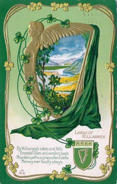 Patrick's Day Postcard, Visual Studies Collection, Library of Virginia. Saint Patrick, Art Nouveau, Art Deco, Dad Images, Irish American, Irish Girls, Irish Celtic, St Patricks Day, Vintage World Maps
