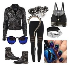 """""""Punk teens"""" by boiicosmetics on Polyvore featuring Yves Saint Laurent"""