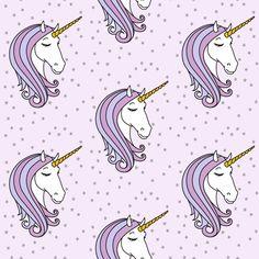 unicorns    purple stars fabric by littlearrowdesign on Spoonflower - custom fabric