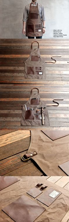 Avental de couro / TRVR For the Mister. Leather tool apron. (site is Korean; maybe a DIY project?) (scheduled via http://www.tailwindapp.com?utm_source=pinterest&utm_medium=twpin&utm_content=post26999960&utm_campaign=scheduler_attribution)