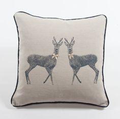 Orwell and Goode Twin Deer Cushion