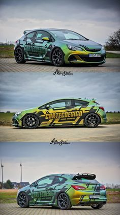 Opel Astra - part wrap design
