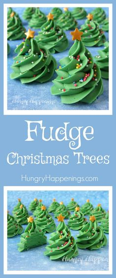 If you can pipe a swirl out of frosting then you can make these three ingredient Creme de Menthe Fudge Christmas Trees. Each sweet little candy tree is decorated with colorful sprinkles and a gold candy star.
