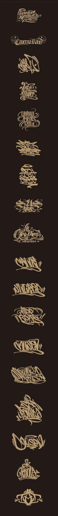 Lettering, Logos, Graffiti by Jorge Canicura, via Behance