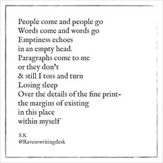Raven's Writing Desk is a personal poetry blog, which as a medium aims to communicate the aberrant and somber aspects of the human experience in an altered light. This blogs purpose is to give the reader poetry they can connect with on an emotional level and to provide them with stimulating content to digest and enjoy. Instagram: @ravens.writingdesk My Poetry, Writing Desk, Ravens, Connect, Purpose, Medium, Words, Blog, Instagram