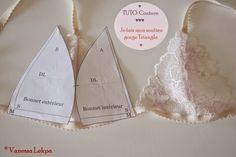 TUTO : Faire un soutien gorge Lingerie Patterns, Sewing Lingerie, Clothing Patterns, Sewing Patterns, Sewing Bras, Diy Clothing, Sewing Clothes, Fashion Sewing, Diy Fashion