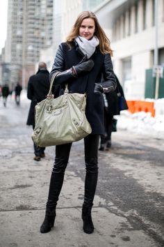 Model street style at New York Fashion Week