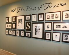 """The Best of Times 36"""" family photo wall vinyl wall decal. $22.00, via Etsy."""