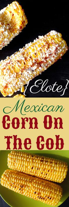 Mexican Corn on the Cob with Cotija cheese, lime and red pepper Mexikanische Maiskörner mit Cotija-Käse, Limette und rotem Pfeffer Corn Recipes, Side Dish Recipes, Great Recipes, Vegan Recipes, Cooking Recipes, Favorite Recipes, Tostada Recipes, Shrimp Recipes, Chicken Recipes