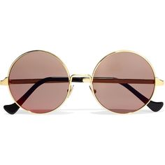 Cutler and Gross Round-frame acetate and gold-plated sunglasses (1.295 BRL) via Polyvore featuring accessories, eyewear, sunglasses, gold plated sunglasses, acetate glasses, gold plated glasses, round acetate sunglasses e round sunglasses
