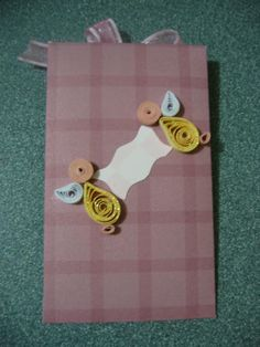Otro mini sobre decorado con la técnica de filigrana