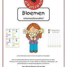 Bloemen-rekenspellenpakket Met het spellenpakket 'Bloemen' oefenen de kinderen spelenderwijs het tellen, de kleuren en de getalsymbolen t/m 15 door middel van telkaartjes, dobbelspellen, een gezelschapsspel en twintig (kring)suggesties met bloemen.