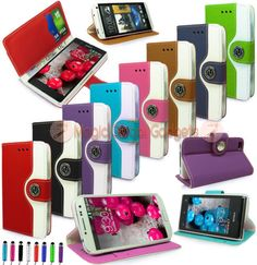 RETRO-LUXURY-LEATHER-WALLET-FLIP-BOOK-CARD-SLOTS-CASE-COVER-FOR-MOBILE-PHONES