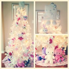 Pink Hello Kitty Christmas Tree  stuff that I like  Pinterest