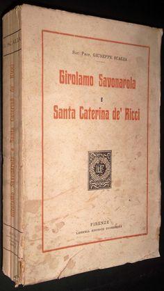 Giuseppe Scalia GIROLAMO SAVONAROLA E SANTA CATERINA DE' RICCI 1924   eBay
