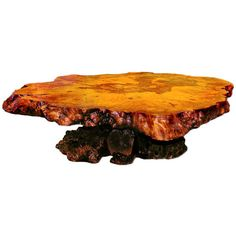 Redwood Burl Coffee Table with Irridescant Carnival Glass Crystals ❤ liked on Polyvore featuring home, furniture, tables, accent tables, glass coffee table, glass table, glass cocktail table, glass occasional tables and glass furniture