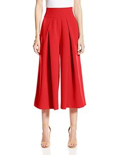 Milly Womens Italian Cady Culotte Flame 6 *** Want additional info? Click on the image.(This is an Amazon affiliate link and I receive a commission for the sales)