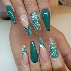 40 stiletto nails 2018 – best trend fashion – Famous Last Words Green Nail Designs, Cute Nail Designs, Acrylic Nail Designs, Acrylic Nails, Marble Nails, Art Designs, Pedicure Nail Designs, Design Ideas, Nails Design