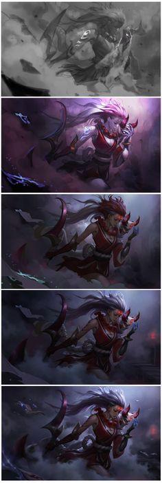 ArtStation - Blood Moon Diana for League of Legends, Chengwei Pan