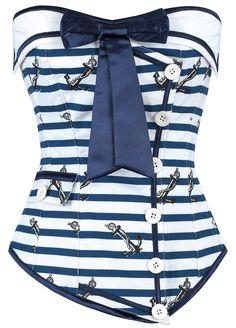 The Violet Vixen - Naughty Nautical Blue Overbust Corset, $102.00 (http://thevioletvixen.com/corsets/naughty-nautical-blue-overbust-corset/)