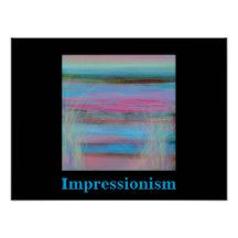 Impressionistic View of Ocean by Carole Tomlinson Poster