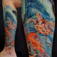 Tatuagem fundo do mar @fernandoshimizu.: