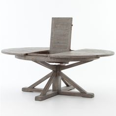 (https://www.zinhome.com/cintra-reclaimed-wood-extending-round-dining-table-63-gray/) $1575