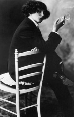 Colette, French novelist who was as famous for her free (and therefore scandalous) life style as for her writing, died on Aug. 3, 1954…  Photo: Colette, 1925 - LIFE archives