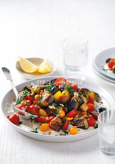 Sydney Markets - Eggplant, tomato & pine nut salad