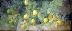 Pedro Cano(Spanish, b.1944) Lemons 1999 watercolor