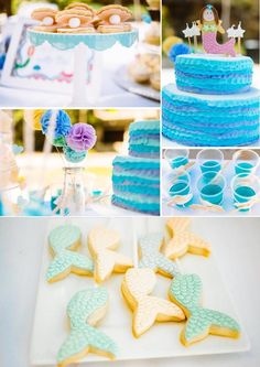 Pastel Mermaid Birthday Party via Kara's Party Ideas KarasPartyIdeas.com
