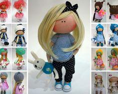 Tilda doll Textile doll  Panenka Collection doll Fabric doll  Bambole Art doll Blue doll Puppen Handmade doll Muñecas Rag doll by Ksenia Pe