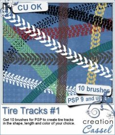 Tire Tracks #1 - PSP Brushes