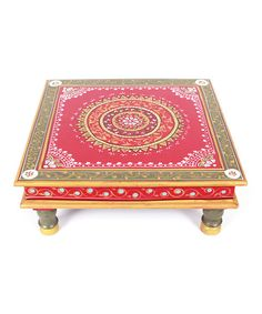 Take a look at this Red & Gray Bajot Low Table on zulily today!