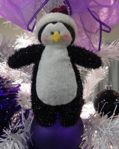my wedding tree - penguin tree topper