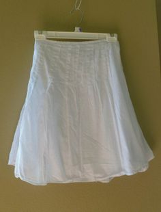 sweet Dotted Swiss  Cotton Skirt pure White by RebeccasVGVintage, $21.95