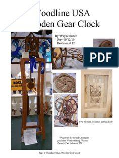 Wooden Gear Clocks | Gear | Pendulum Wooden Clock Plans, Wooden Gear Clock, Wooden Gears, Wood Toys Plans, Wood Clocks, Scrap, Cnc Projects, Cardboard Furniture, Large Clock