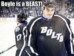 Love Brian Boyle. So happy he is with the Lightning.