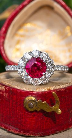 fe46d6ae6e 120 Best Ruby Engagement Rings images in 2019 | Diamond engagement ...