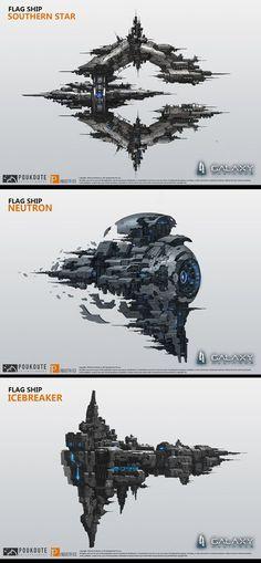ArtStation - Galaxy Alliance ship design 2, puz lee: