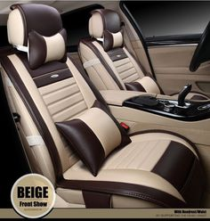 luxury waterproof soft mosaic pu leather car seat covers easy install front&rear full seat cover car accessories interior