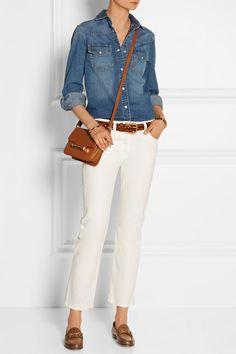 Gucci | Horsebit-detailed burnished leather loafers | NET-A-PORTER.COM