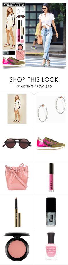 """Summer Street Style"" by camry-brynn ❤ liked on Polyvore featuring Kendall + Kylie, MAHA LOZI, STELLA McCARTNEY, Philippe Model, Mansur Gavriel, LORAC, Trish McEvoy, JINsoon, MAC Cosmetics and Deborah Lippmann"