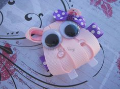 Hippo hair clip by TiedTutusAndThings on Etsy, $4.75
