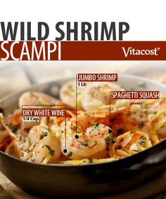 Wild Shrimp Scampi Recipe #Paleo #Recipe #Dinner #Foodie #Vitacost