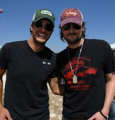 Luke Bryan and Eric Church.<3 what else do you need .. ?