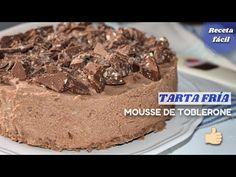 Tarta Fría de MOUSSE DE TOBLERONE 😋 muy fácil y rápida ¡sin gelatina ni horno! 👌 - YouTube Toblerone, Mousse, 3, Youtube, Desserts, Cold, Cheesecake, Pound Cake, Tarts
