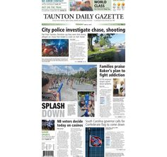 The front page of the Taunton Daily Gazette for Tuesday, June 23, 2015.