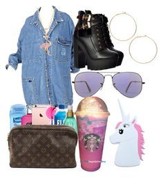 """""""Hollywood style """" by goddess12 ❤ liked on Polyvore featuring Ray-Ban, Sydney Evan and Forever 21"""